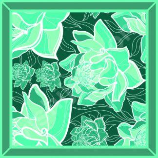 kerudung motif bunga mawar neon