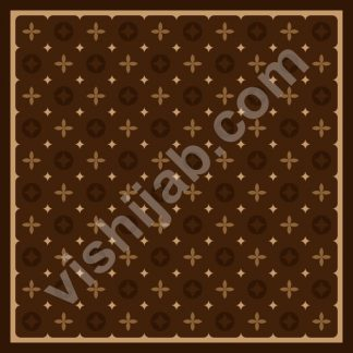 jilbab branded dark brown louis vuitton
