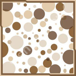 jilbab polkadot beige brown