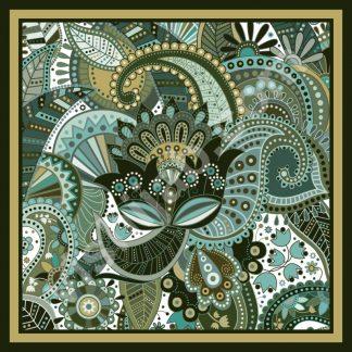 jilbab batik green paisley