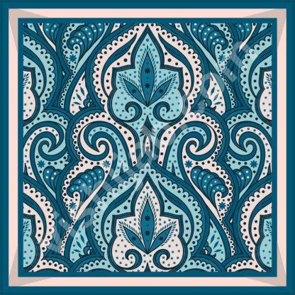 kerudung turki blue white