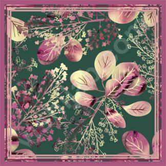 hijab motif bunga vintage