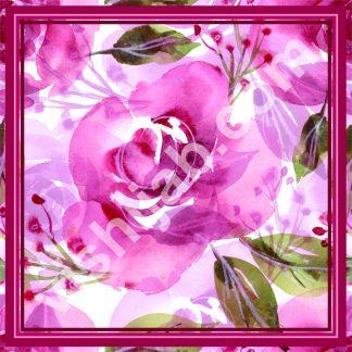hijab bunga mawar daun