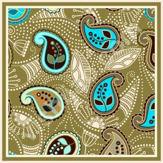 kerudung segi empat motif batik small paisley