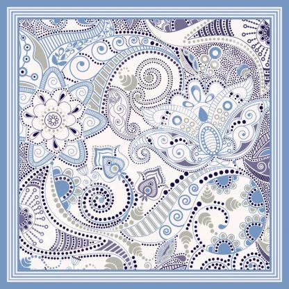 jilbab motif batik light paisley