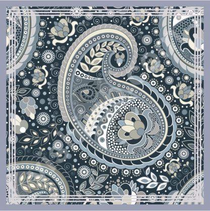 hijab batik monochrome paisley