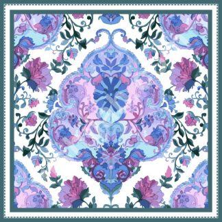 hijab turki violet blue