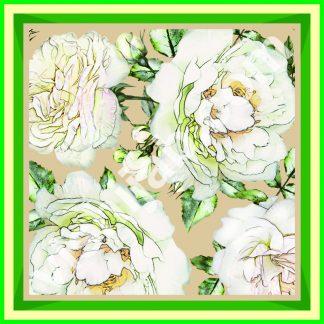 jilbab kembang mawar putih