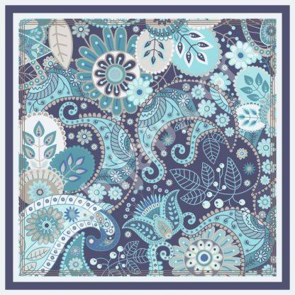 jilbab batik blue paisley