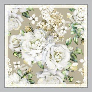 kerudung kembang mawar peony putih