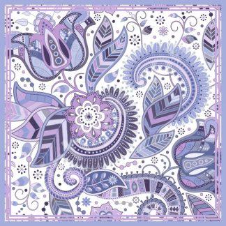 kerudung motif batik paisley exotic purple