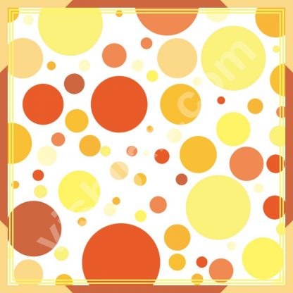 kerudung polkadot orange yellow