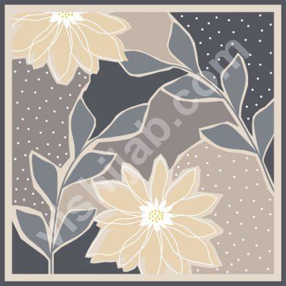 kerudung abstrak garden flower