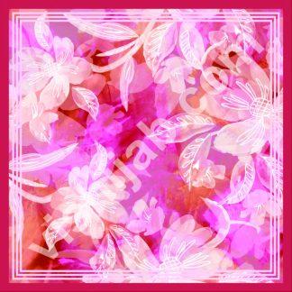 kerudung segi empat motif bunga abstrak burgundy