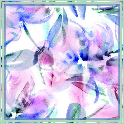 jilbab motif bunga purple blue
