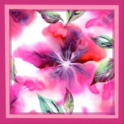 jilbab segi empat motif bunga abstrak musiman