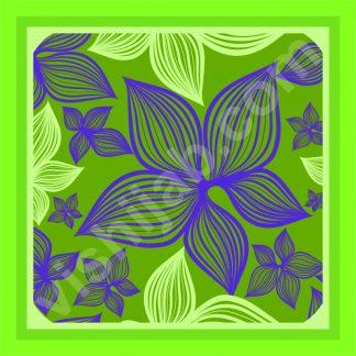 jilbab motif bunga lili hijau