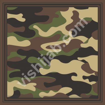 kerudung hijau army camo