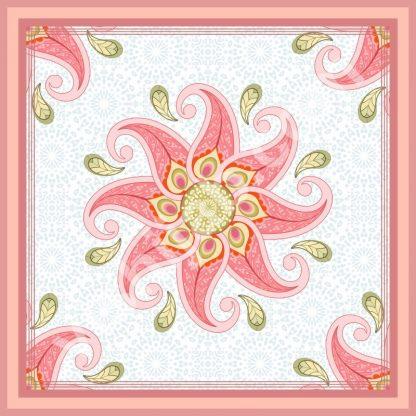 jilbab merak round pink red green