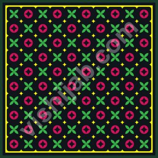 kerudung motif branded black green red