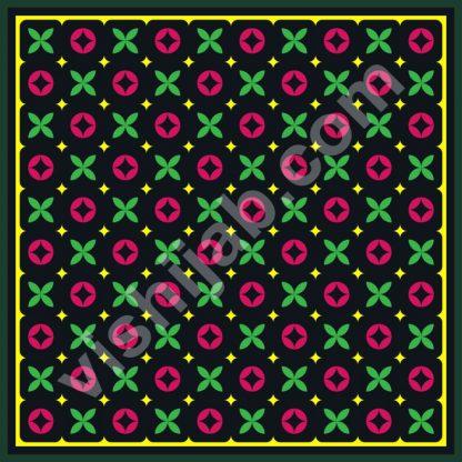 kerudung motif branded black green red