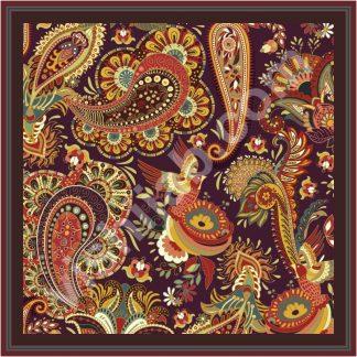 jilbab motif batik vintage paisley