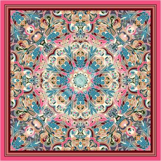 turkish scarf blue pink beige