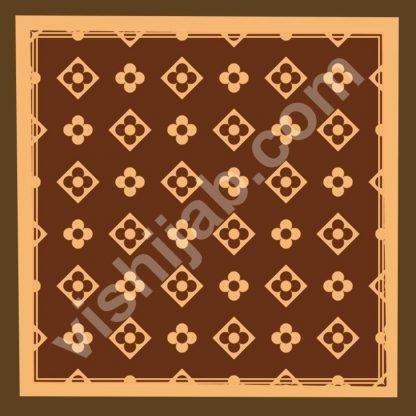 jilbab motif branded brown peach