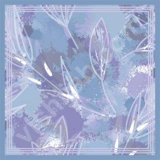 kerudung motif dedaunan ungu musim semi