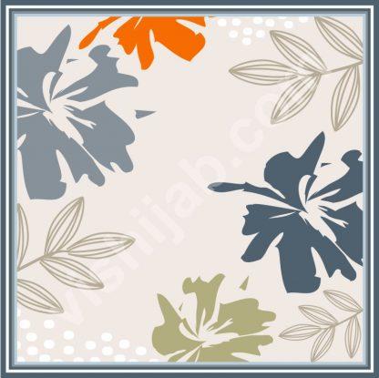hijab motif abstrak spring leaf