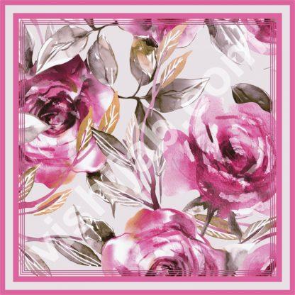 jilbab bunga mawar merah vintage