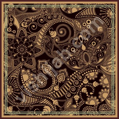 kerudung batik two colors paisley
