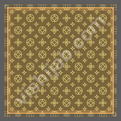 kerudung branded brown yellow