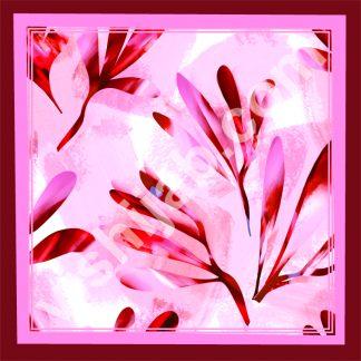 jilbab motif dedaunan merah musim gugur