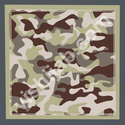 jilbab motif army green gray brown