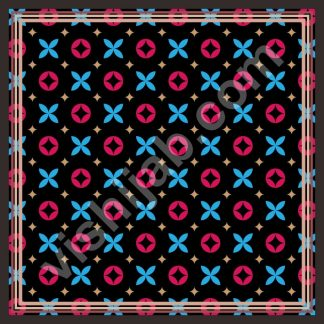 kerudung segi empat motif branded black blue red