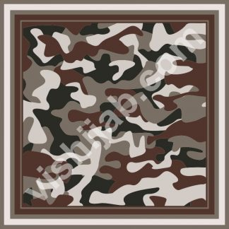 kerudung motif army dark brown gray green