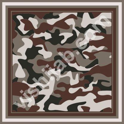 kerudung motif army dark brown gray green